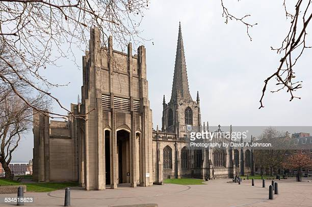 sheffield cathedral - sheffield stock pictures, royalty-free photos & images