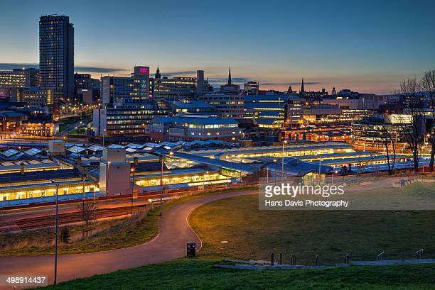 sheffield city lights - sheffield stock pictures, royalty-free photos & images