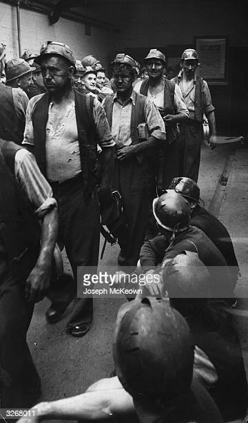 Sheffield coal miners preparing to start work Original Publication Picture Post 8067 The Importance of Being Yorkshire unpub