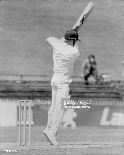 Sheffield Shield Cricket at SCG NSW versus Tasmania27 Wellham makes a shot off the bowling of McCurdy no run March 7 1981