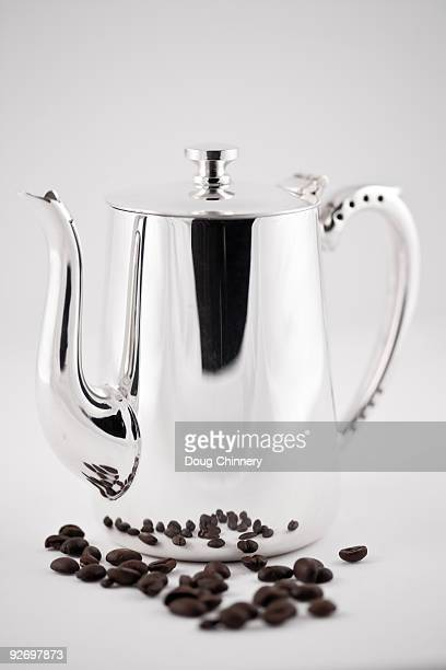 Sheffield Silver Coffe Pot & Coffee Beans