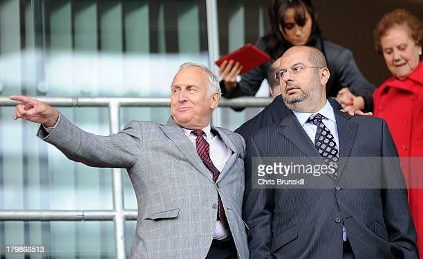 Sheffield United co-owner and chairman Prince Abdullah bin Mosaad bin Abdulaziz Al Saud is seen during the Sky Bet League One match between Rotherham...