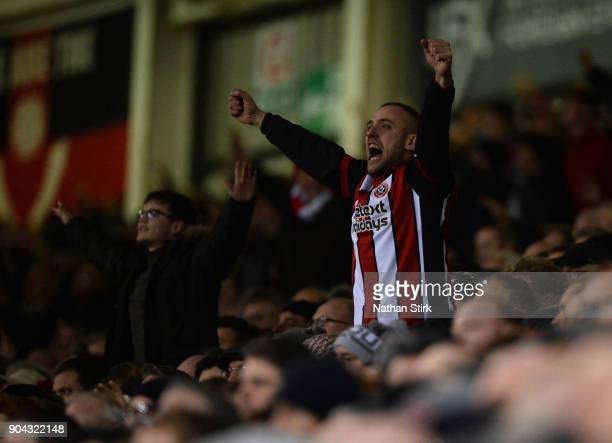 Sheffield United fan sings during the Sky Bet Championship match between Sheffield United and Sheffield Wednesday at Bramall Lane on January 12 2018...