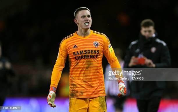 Sheffield United goalkeeper Dean Henderson reacts Sheffield United v Brentford Sky Bet Championship Bramall Lane