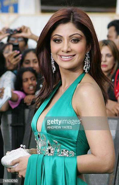 Indian actress and model Shilpa Shetty arrives at the International Indian Film Academy Awards ceremony at the Hallam Arena in Sheffield northern...