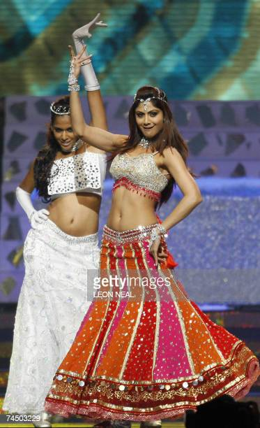 Indian actress and model Shilpa Shetty performs during the International Indian Film Academy Awards ceremony at the Hallam Arena in Sheffield...