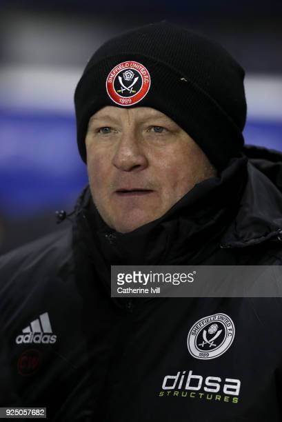 Sheffield United manager Chris Wilder ahead of the Sky Bet Championship match between Reading and Sheffield United at Madejski Stadium on February 27...