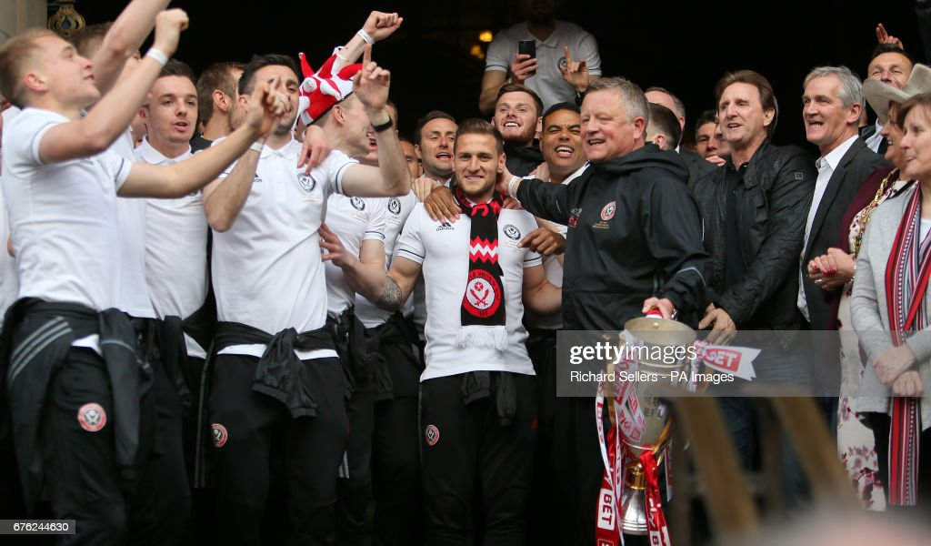 Sheffield United's Promotion Celebrations : News Photo