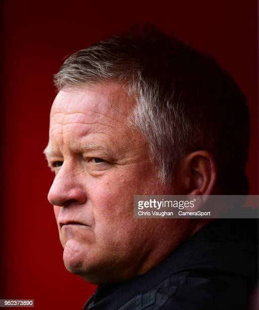 Sheffield United manager Chris Wilder during the prematch warmup prior to the Sky Bet Championship match between Sheffield United and Preston North...