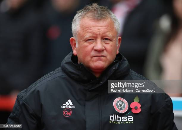Sheffield United manager Chris Wilder during the Sky Bet Championship match between Nottingham Forest and Sheffield United at City Ground on November...