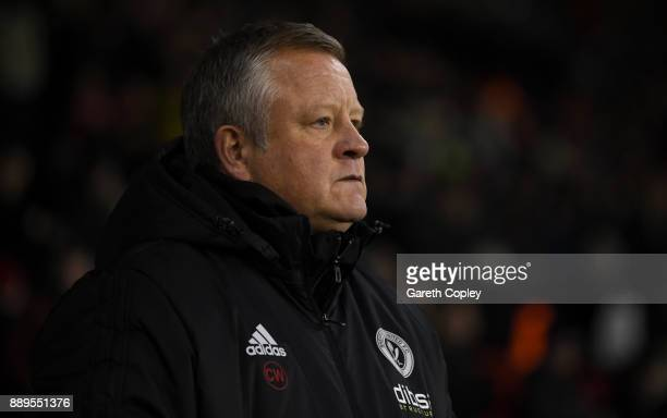 Sheffield United manager Chris Wilder during the Sky Bet Championship match between Sheffield United and Bristol City at Bramall Lane on December 8...