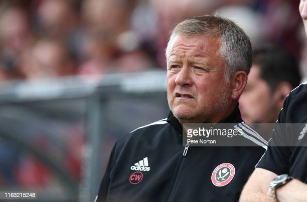 Sheffield United manager Chris Wilder looks on during a Pre-Season Friendly match between Northampton Town and Sheffield United at PTS Academy...