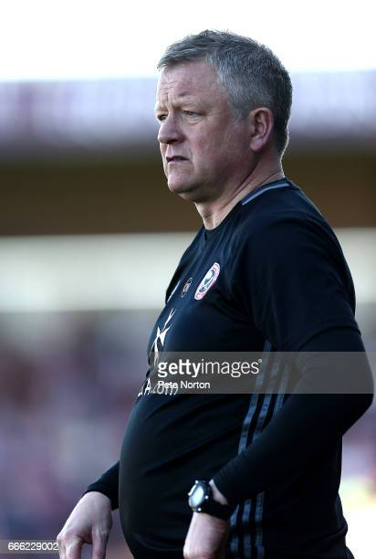 Sheffield United manager Chris Wilder looks on during the Sky Bet League One match between Northampton Town and Sheffield United at Sixfields on...