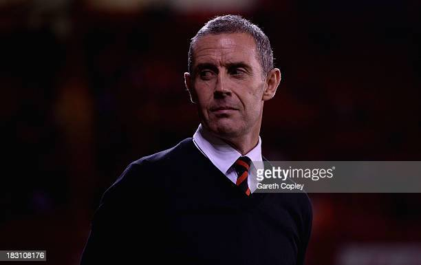 Sheffield United manager David Weir during the Sky Bet League One match between Sheffield United and Crawley Town at Bramall Lane on October 04 2013...