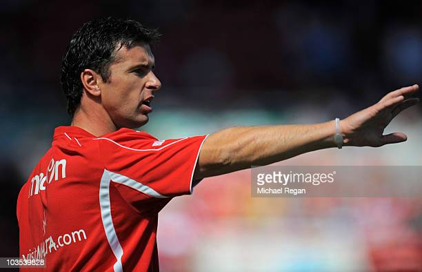 Sheffield United manager Gary Speed looks on during the npower Championship match between Middlesbrough and Sheffield United at the Riverside Stadium...