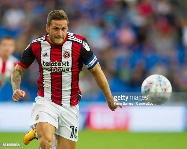 Sheffield United's Billy Sharp during the Sky Bet Championship match between Cardiff City and Sheffield United at Cardiff City Stadium on August 15...