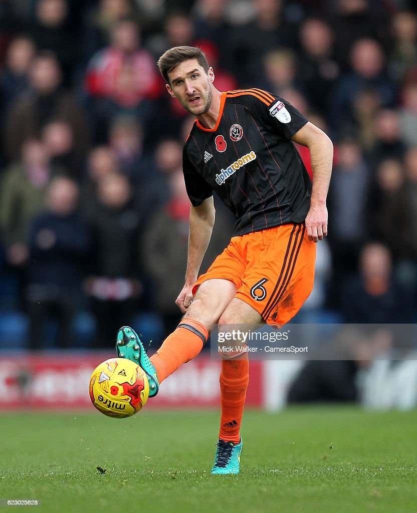 Sheffield United's Chris Basham during the Sky Bet League One match between Chesterfield and Sheffield United at Proact Stadium on November 13, 2016 in Chesterfield, England.