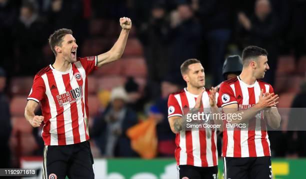 Sheffield United's Chris Basham reacts after the final whistle Sheffield United v West Ham United - Premier League - Bramall Lane .