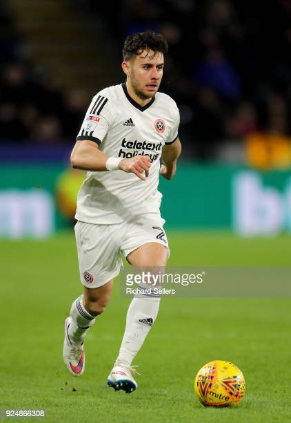 Sheffield United's George Baldock during the Sky Bet Championship match between Hull City and Sheffield United at KCOM on February 23 2018 in Hull...