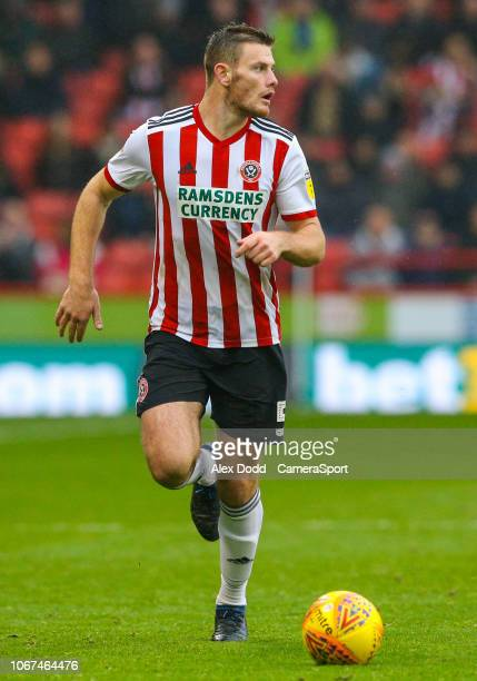 Sheffield United's Jack O'Connell during the Sky Bet Championship match between Sheffield United and Leeds United at Bramall Lane on December 1 2018...