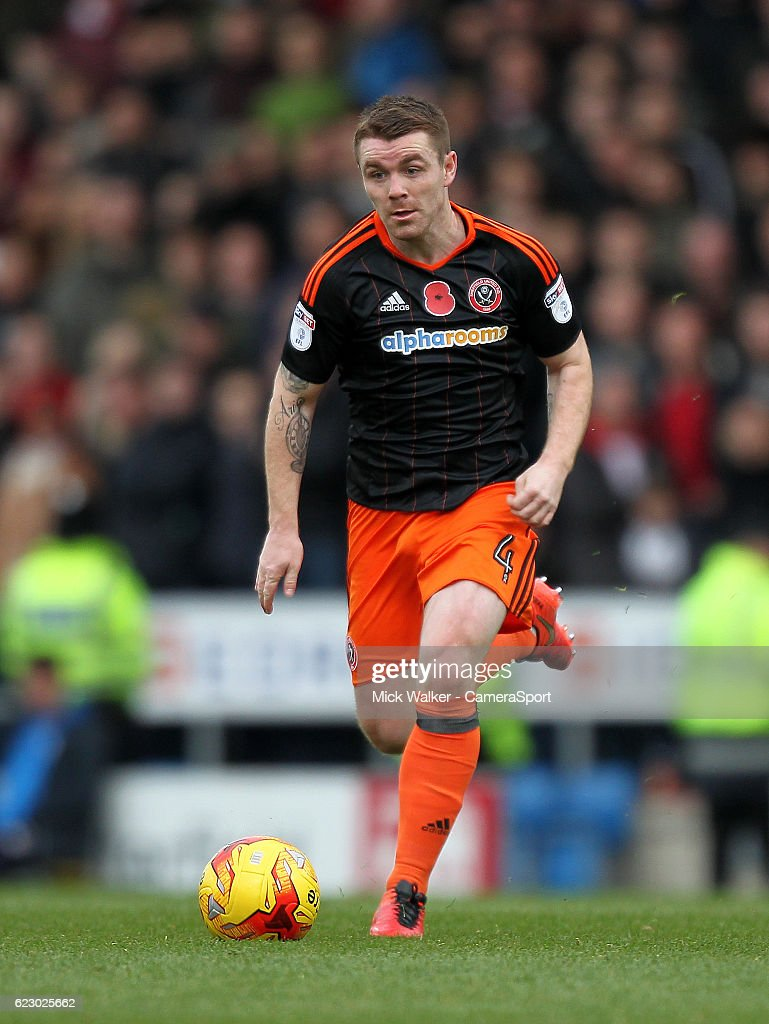 Sheffield United's John Fleck during the Sky Bet League One match between Chesterfield and Sheffield United at Proact Stadium on November 13, 2016 in Chesterfield, England.