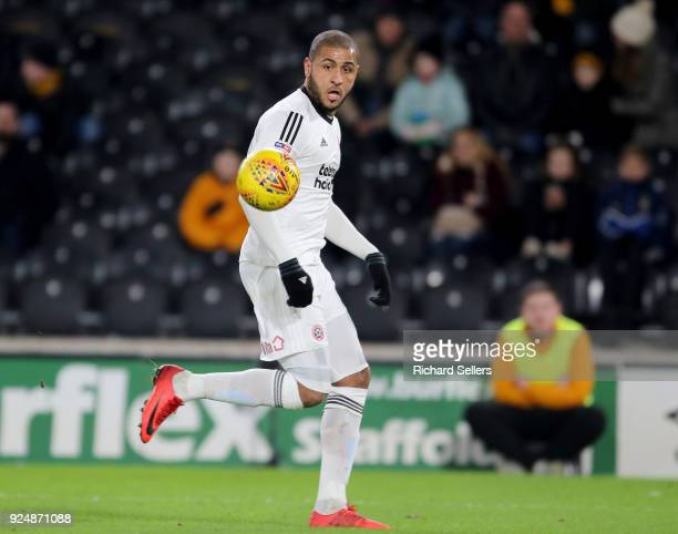 Sheffield United's Leon Clarke during the Sky Bet Championship match between Hull City and Sheffield United at KCOM on February 23 2018 in Hull...