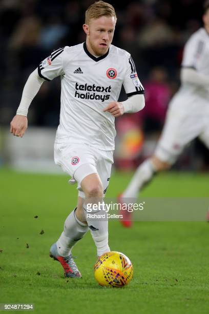 Sheffield United's Mark Duffy during the Sky Bet Championship match between Hull City and Sheffield United at KCOM on February 23 2018 in Hull...