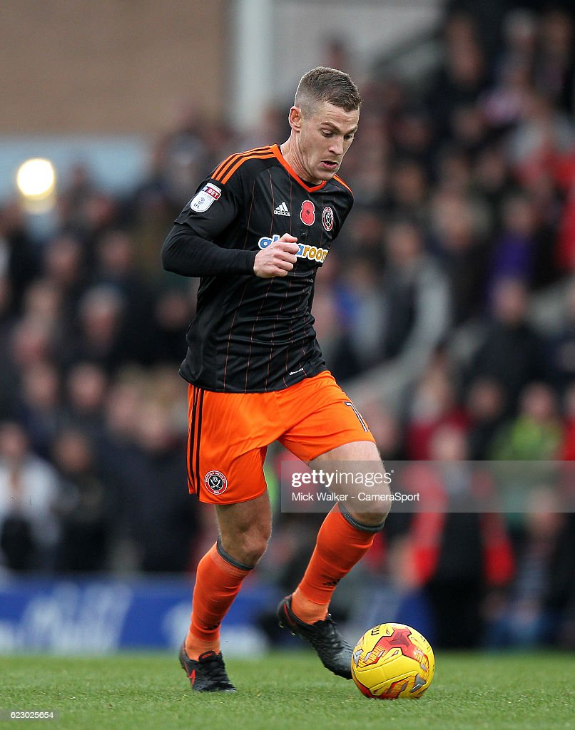 Sheffield United's Paul Coutts during the Sky Bet League One match between Chesterfield and Sheffield United at Proact Stadium on November 13, 2016 in Chesterfield, England.