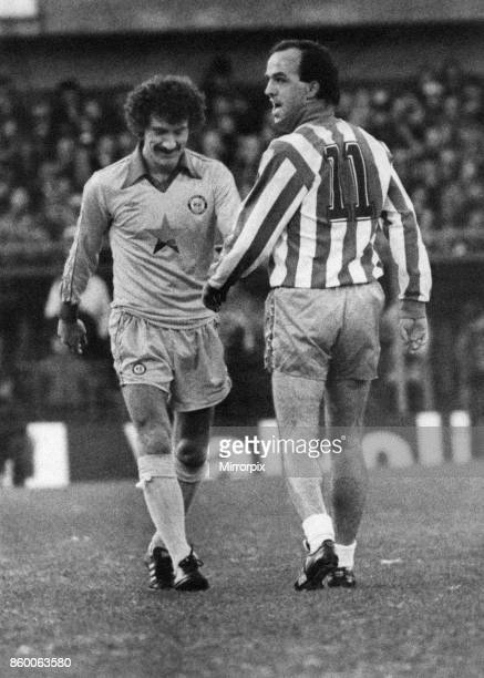 Sheffield Wed 11 Newcastle Division Two League match at Hillsborough Saturday 18th December 1982 Terry McDermott sees the funny side of life as...