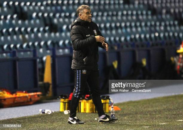 Sheffield Wednesday Caretaker Manager Neil Thompson during the Sky Bet Championship match between Sheffield Wednesday and Middlesbrough at...