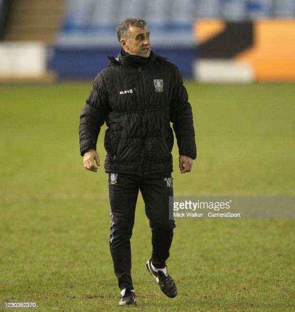 Sheffield Wednesday Caretaker Manager Neil Thompson looks pleased at the end of the game during the Sky Bet Championship match between Sheffield...