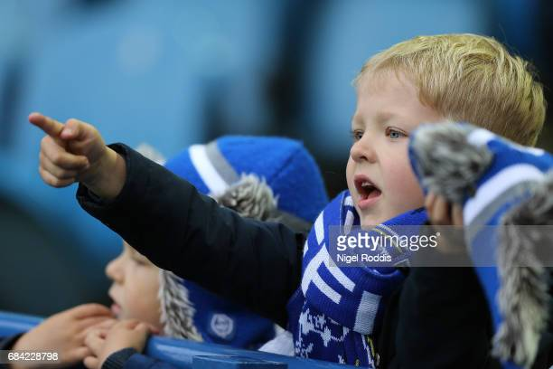 Sheffield Wednesday fan looks on prior to the Sky Bet Championship play off semi final second leg match between Sheffield Wednesday and Huddersfield...