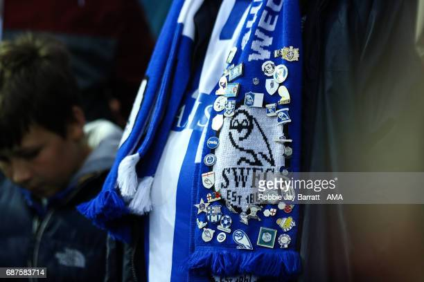 Sheffield Wednesday fan with pin badges during the Sky Bet Championship match between Sheffield Wednesday and Huddersfield Town at Hillsborough...