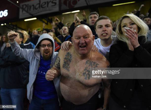 Sheffield Wednesday fans during the Sky Bet Championship match between Sheffield United and Sheffield Wednesday at Bramall Lane on January 12 2018 in...