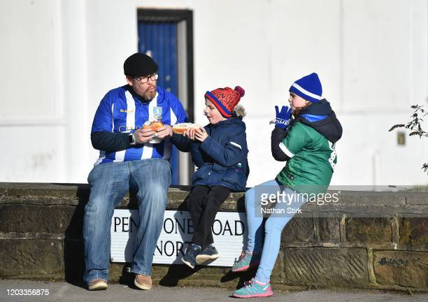 Sheffield Wednesday fans enjoy refreshments before the Sky Bet Championship match between Sheffield Wednesday and Millwall at Hillsborough Stadium on...