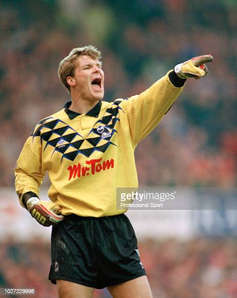 Sheffield Wednesday goalkeeper Chris Woods in action, circa 1991.