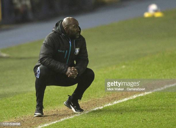 Sheffield Wednesday Manager Darren Moore during the Sky Bet Championship match between Sheffield Wednesday and Rotherham United at Hillsborough...