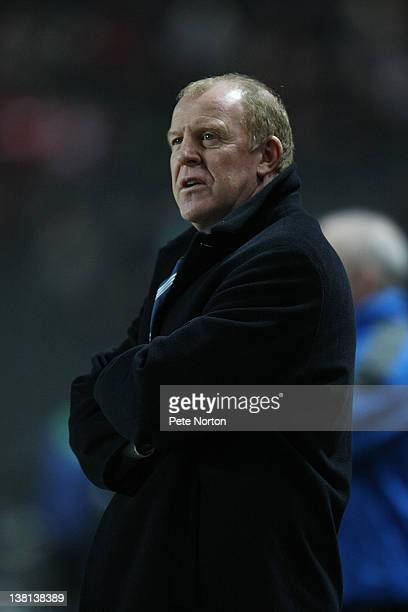 Sheffield Wednesday manager Gary Megson looks on during the npower League One match between MK Dons and Sheffield Wednesday at stadiummk on January...