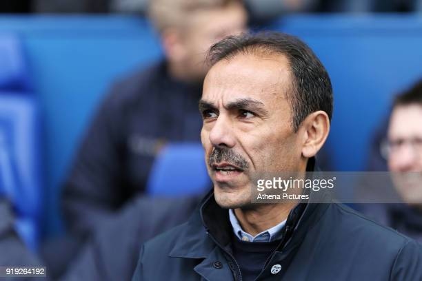 Sheffield Wednesday manager Jos Luhukay stands in the technical area during The Emirates FA Cup Fifth Round match between Sheffield Wednesday and...