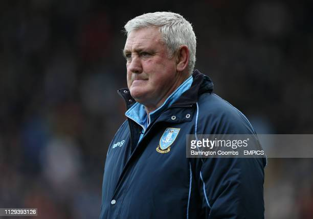 Sheffield Wednesday manager Steve Bruce during the Sky Bet Championship match at Pride Park Derby County v Sheffield Wednesday - Sky Bet Championship...