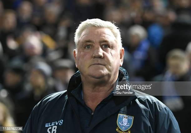 Sheffield Wednesday manager Steve Bruce looks on before the Sky Bet Championship match between Sheffield Wednesday and Sheffield United at...