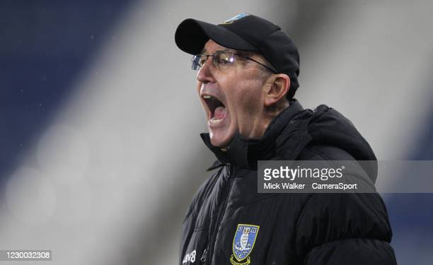 Sheffield Wednesday manager Tony Pulis during the Sky Bet Championship match between Huddersfield Town and Sheffield Wednesday at John Smith's...