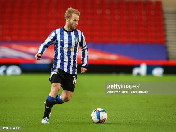 Sheffield Wednesday's Barry Bannan breaks during the Sky Bet Championship match between Stoke City and Sheffield Wednesday at Bet365 Stadium on...