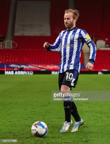 Sheffield Wednesday's Barry Bannan looks on during the Sky Bet Championship match between Stoke City and Sheffield Wednesday at Bet365 Stadium on...