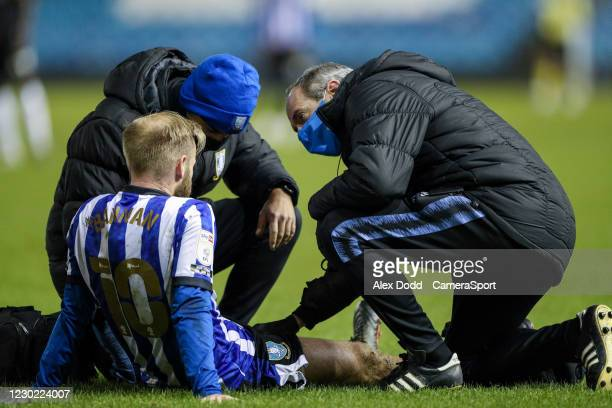 Sheffield Wednesday's Barry Bannan pulls up with an injury during the Sky Bet Championship match between Sheffield Wednesday and Coventry City at...