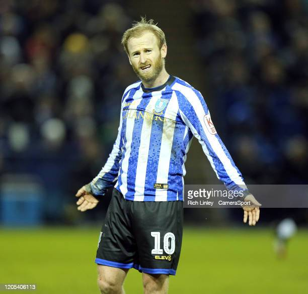 Sheffield Wednesday's Barry Bannan reacts during the FA Cup Fifth Round match between Sheffield Wednesday and Manchester City at Hillsborough on...
