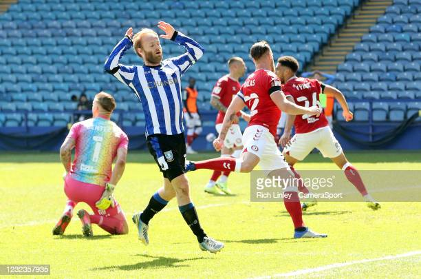 Sheffield Wednesday's Barry Bannan rues a missed first half opportunity during the Sky Bet Championship match between Sheffield Wednesday and Bristol...