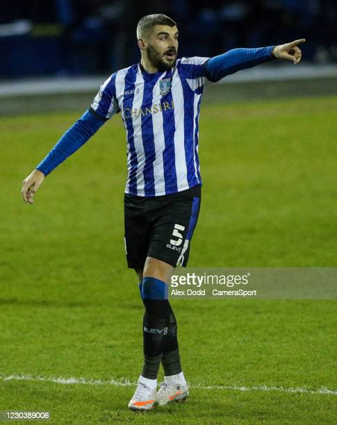 Sheffield Wednesday's Callum Paterson during the Sky Bet Championship match between Sheffield Wednesday and Derby County at Hillsborough Stadium on...