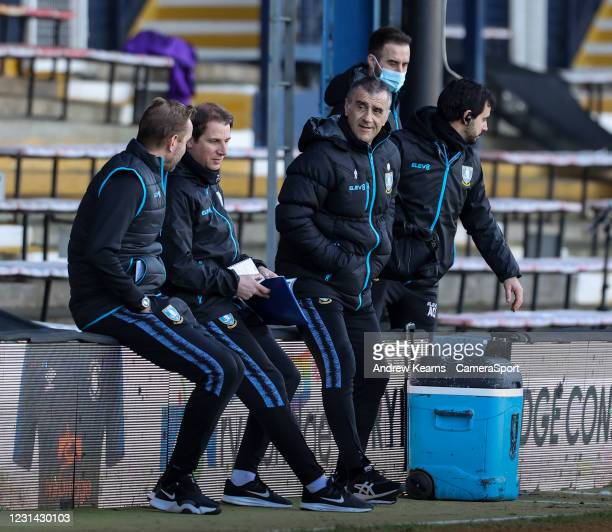 Sheffield Wednesday's caretaker manager Neil Thompson smiling before the match during the Sky Bet Championship match between Luton Town and Sheffield...