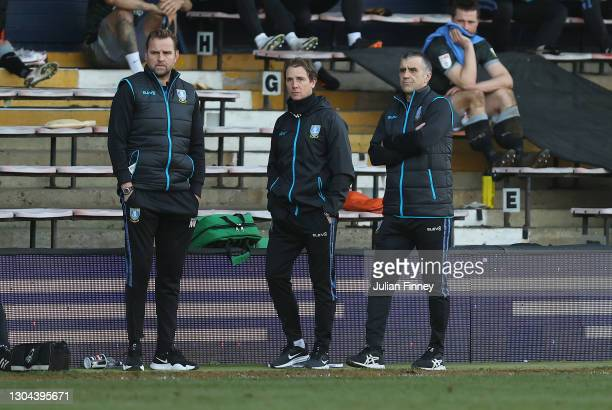 Sheffield Wednesday's caretaker manager Neil Thompson watches on during the Sky Bet Championship match between Luton Town and Sheffield Wednesday at...